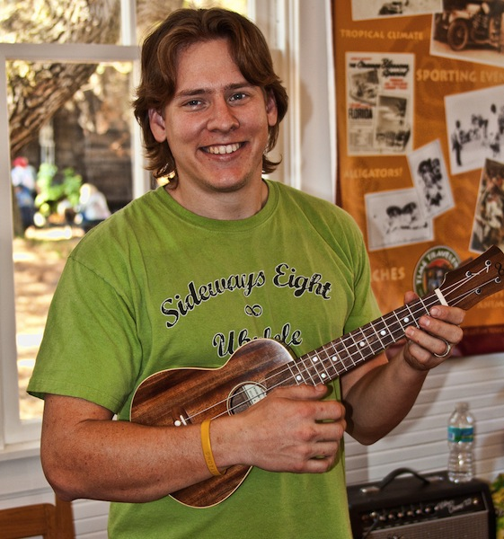 Andy Gibson with one of his sweet ukeleles