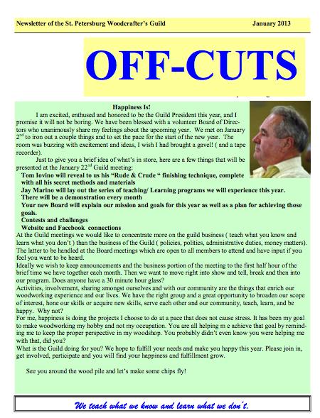 January 2013 Offcuts