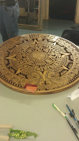 A CNC carved Mayan calendar... And, no, the world didn't end!