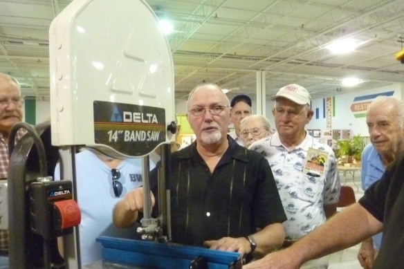 Michael shows the steps to set up a band saw