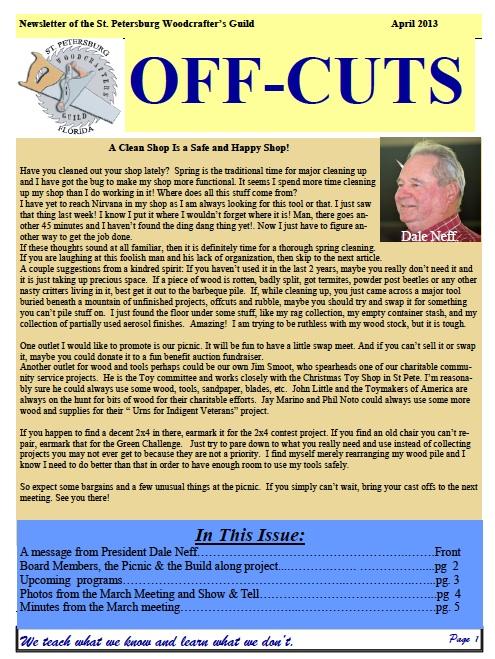 April 2013 Offcuts