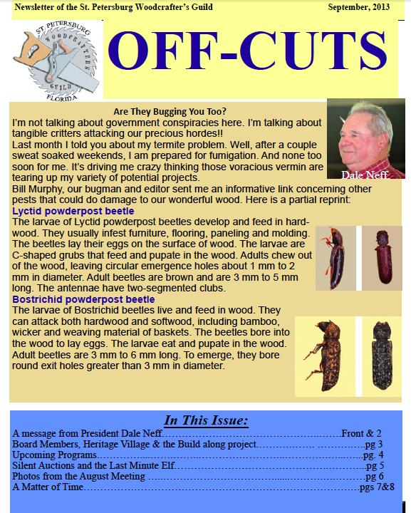 Sept 2013 Offcuts