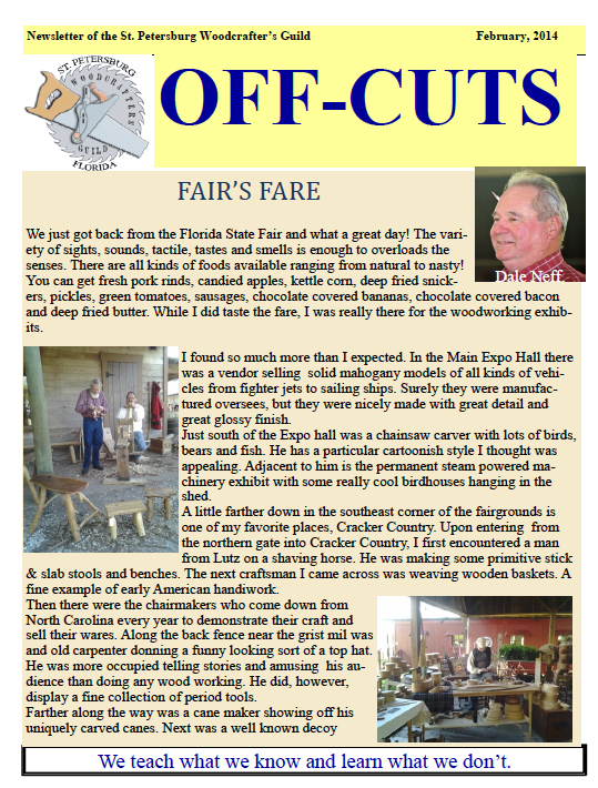 Feb 2014's Offcuts Newsletter