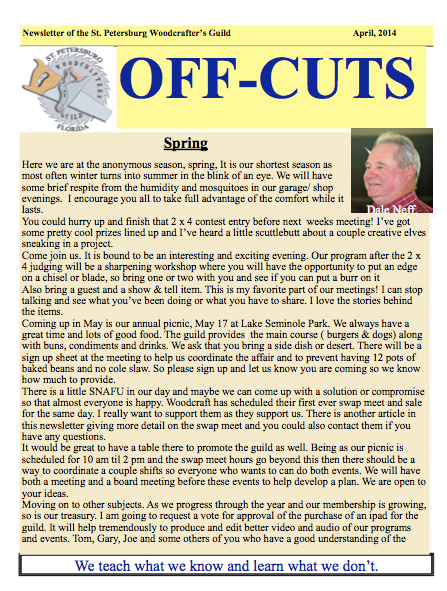 The April 2014 Offcuts