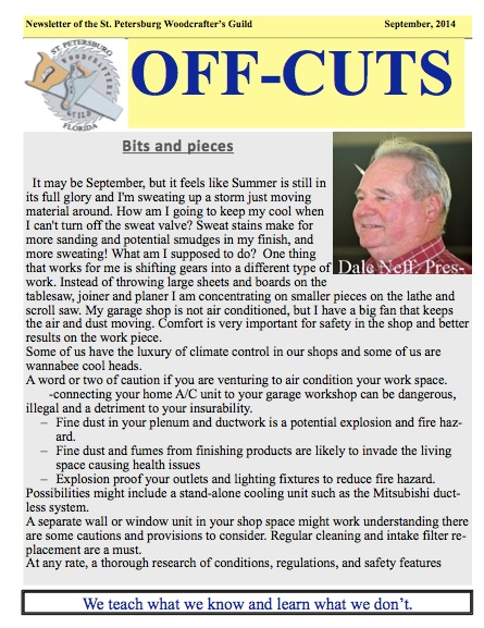 Sept. 2014 edition of Offcuts