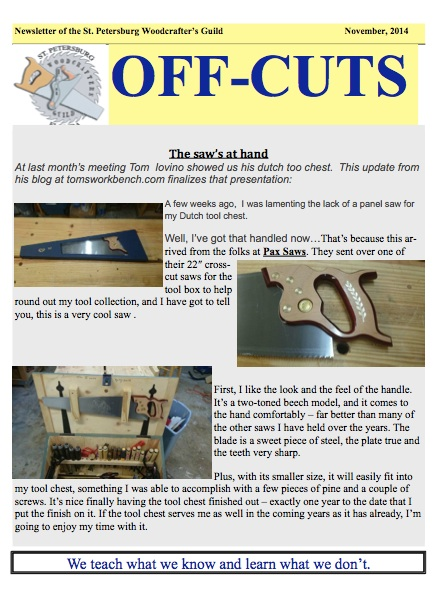 Nov 2014 edition of Offcuts